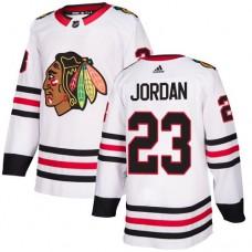 Women's Chicago Blackhawks #23 Michael Jordan Away White Authentic Jersey
