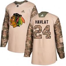 Youth Chicago Blackhawks #24 Martin Havlat Veterans Day Practice Camo Authentic Jersey