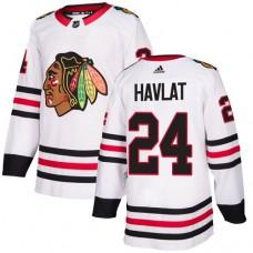 Women's Chicago Blackhawks #24 Martin Havlat Away White Authentic Jersey