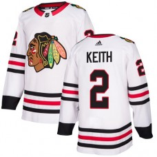 Women's Chicago Blackhawks #2 Duncan Keith Away White Authentic Jersey