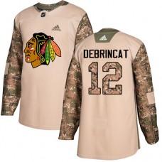 Chicago Blackhawks #12 Alex DeBrincat Camo Veterans Day Practice Authentic Jersey