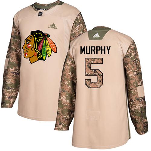 Chicago Blackhawks #5 Connor Murphy Camo Veterans Day Practice Premier Jersey