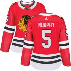 Women's Chicago Blackhawks #5 Connor Murphy Home Red Authentic Jersey