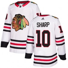 Youth Chicago Blackhawks #10 Patrick Sharp White Away Authentic Jersey