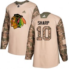 Youth Chicago Blackhawks #10 Patrick Sharp Camo Veterans Day Practice Authentic Jersey