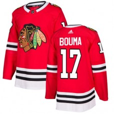 Chicago Blackhawks #17 Lance Bouma Home Red Authentic Jersey