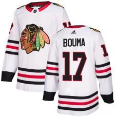 Youth Chicago Blackhawks #17 Lance Bouma White Away Authentic Jersey