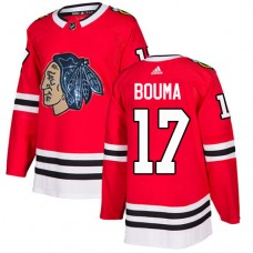 Chicago Blackhawks #17 Lance Bouma Black Indians-Face Red Authentic Jersey