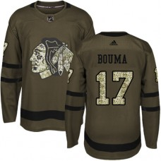 Youth Chicago Blackhawks #17 Lance Bouma Salute to Service Green Authentic Jersey