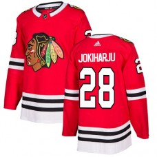 Youth Chicago Blackhawks #28 Henri Jokiharju Home Red Authentic Jersey