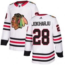 Youth Chicago Blackhawks #28 Henri Jokiharju White Away Authentic Jersey