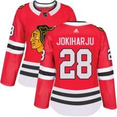 Women's Chicago Blackhawks #28 Henri Jokiharju Home Red Authentic Jersey