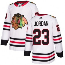 Chicago Blackhawks #23 Michael Jordan Away White Authentic Jersey