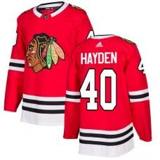Chicago Blackhawks #40 John Hayden Home Red Authentic Jersey