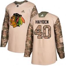 Chicago Blackhawks #40 John Hayden Camo Veterans Day Practice Authentic Jersey