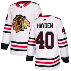 Youth Chicago Blackhawks #40 John Hayden White Away Authentic Jersey