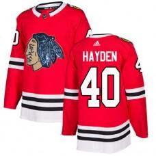 Chicago Blackhawks #40 John Hayden Black Indians-Face Red Authentic Jersey