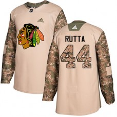 Chicago Blackhawks #44 Jan Rutta Camo Veterans Day Practice Authentic Jersey
