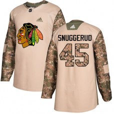 Youth Chicago Blackhawks #45 Luc Snuggerud Camo Veterans Day Practice Authentic Jersey