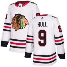 Youth Chicago Blackhawks #9 Bobby Hull Away White Authentic Jersey