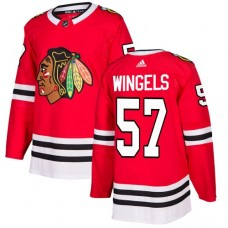 Youth Chicago Blackhawks #57 Tommy Wingels Home Red Authentic Jersey