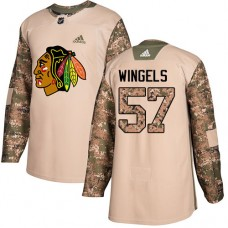 Youth Chicago Blackhawks #57 Tommy Wingels Camo Veterans Day Practice Authentic Jersey