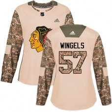 Women's Chicago Blackhawks #57 Tommy Wingels Camo Veterans Day Practice Authentic Jersey