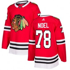 Youth Chicago Blackhawks #78 Nathan Noel Home Red Authentic Jersey