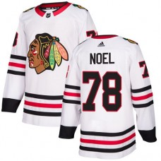 Youth Chicago Blackhawks #78 Nathan Noel White Away Authentic Jersey