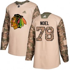 Youth Chicago Blackhawks #78 Nathan Noel Camo Veterans Day Practice Authentic Jersey