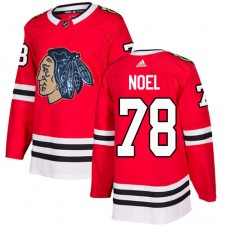 Chicago Blackhawks #78 Nathan Noel Black Indians-Face Red Authentic Jersey