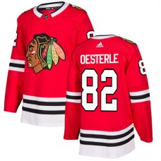 Youth Chicago Blackhawks #82 Jordan Oesterle Home Red Authentic Jersey
