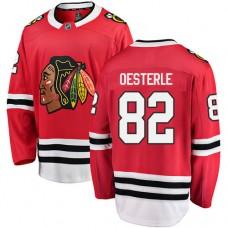 Chicago Blackhawks #82 Jordan Oesterle Red Home Fanatics Branded Breakaway Authentic Jersey