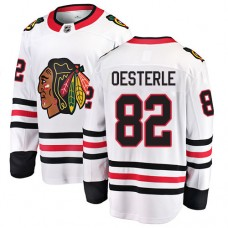 Youth Chicago Blackhawks #82 Jordan Oesterle White Away Fanatics Branded Breakaway Authentic Jersey