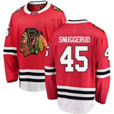 Youth Chicago Blackhawks #45 Luc Snuggerud Red Home Fanatics Branded Breakaway Authentic Jersey