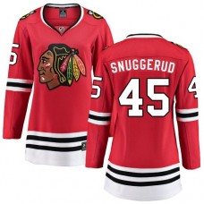 Women's Chicago Blackhawks #45 Luc Snuggerud Red Home Fanatics Branded Breakaway Authentic Jersey