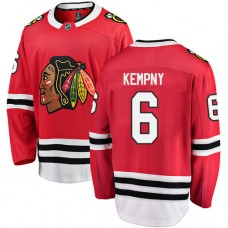 Youth Chicago Blackhawks #6 Michal Kempny Red Home Fanatics Branded Breakaway Authentic Jersey