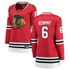 Women's Chicago Blackhawks #6 Michal Kempny Red Home Fanatics Branded Breakaway Authentic Jersey