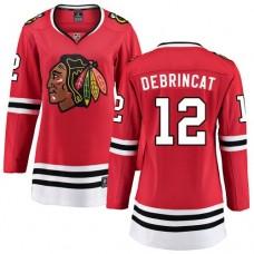 Women's Chicago Blackhawks #12 Alex DeBrincat Red Home Fanatics Branded Breakaway Authentic Jersey