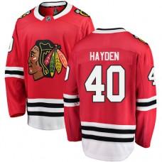 Chicago Blackhawks #40 John Hayden Red Home Fanatics Branded Breakaway Authentic Jersey