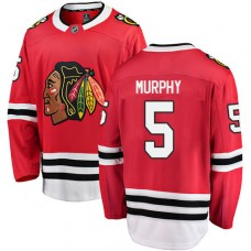 Youth Chicago Blackhawks #5 Connor Murphy Red Home Fanatics Branded Breakaway Authentic Jersey
