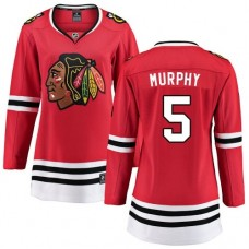 Women's Chicago Blackhawks #5 Connor Murphy Red Home Fanatics Branded Breakaway Authentic Jersey