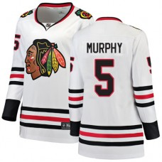 Women's Chicago Blackhawks #5 Connor Murphy Away Fanatics Branded Breakaway White Authentic Jersey