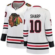 Women's Chicago Blackhawks #10 Patrick Sharp Away Fanatics Branded Breakaway White Authentic Jersey