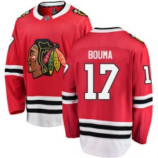 Chicago Blackhawks #17 Lance Bouma Red Home Fanatics Branded Breakaway Authentic Jersey