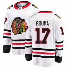 Youth Chicago Blackhawks #17 Lance Bouma White Away Fanatics Branded Breakaway Authentic Jersey