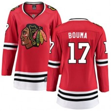 Women's Chicago Blackhawks #17 Lance Bouma Red Home Fanatics Branded Breakaway Authentic Jersey