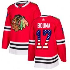 Youth Chicago Blackhawks #17 Lance Bouma USA Flag Fashion Red Authentic Jersey