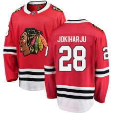 Chicago Blackhawks #28 Henri Jokiharju Red Home Fanatics Branded Breakaway Authentic Jersey