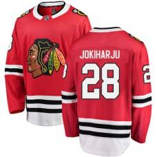 Youth Chicago Blackhawks #28 Henri Jokiharju Red Home Fanatics Branded Breakaway Authentic Jersey